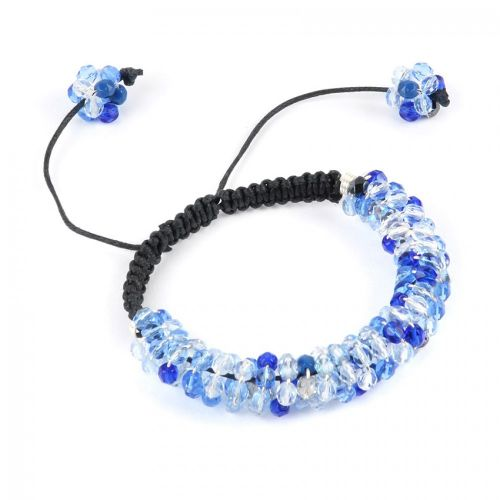 X-Blue Glittering Spiral Take a Make Break Bracelet Kit - Makes x1
