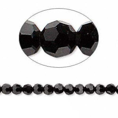 5000 Swarovski Crystal Faceted Rounds 4mm Jet Pk12