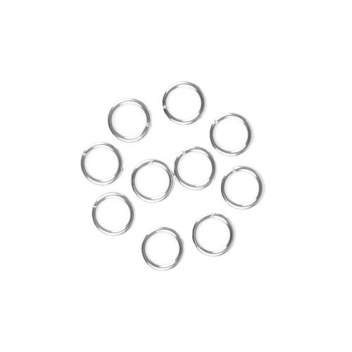 X Sterling Silver 925 Jumprings 0.9x6mm Pk10