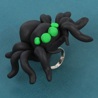 FIMO Clay Spider Ring