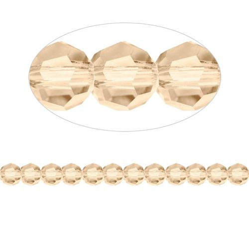 5000 Swarovski Crystal Faceted Rounds 6mm Golden Shadow Pk12