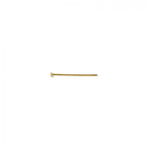 Headpins gold plated 0.5x25mm. Pack of 100