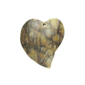 Picasso jasper / pendant / heart / 42x38x6.5mm / multicolour / 1pcs