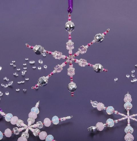 Pink Snowflake Decorations