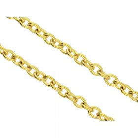 Cable chain / surgical steel / 3x2.5mm / gold / wire thickness 0.6mm / 1m