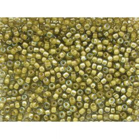 TOHO ™ / Round 11/0 / Inside Colour Luster / Black Diamond / Yellow / 10g / ~ 1100pcs