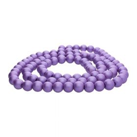 SeaStar™ satin / round / 10mm / lavender / 85pcs