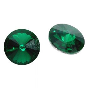 Bonny™ / crystal glass / rivoli / 8mm / Emerald / 14pcs