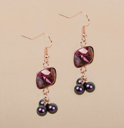 Blackberry Crush Earrings
