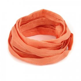 Orange Natural Silk Ribbon Cord 5mm Pre Cut 1metre