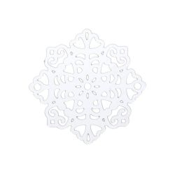 Snowflake / filigree pendant / surgical steel / 20x20x0.3mm / silver / 1pcs