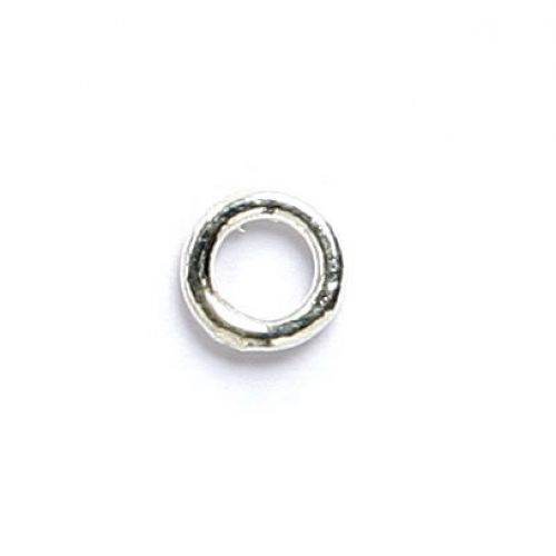 Soldered closed ring silver plated 4mm. Pack of 50
