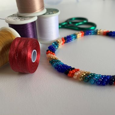 Eight Colour Seed Bead Bangle - Jewellery Making Tutorial