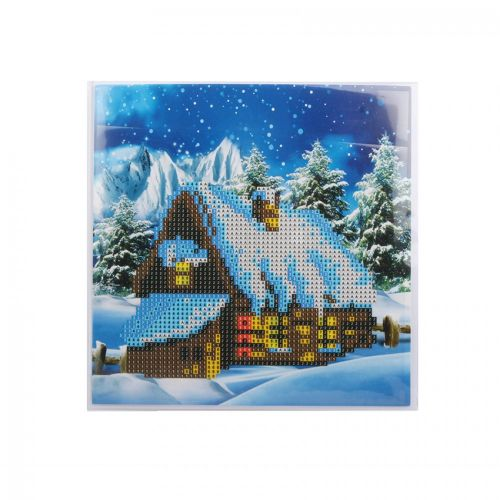 X-Beads Direct Snowy Cottage Crystal Card Kit