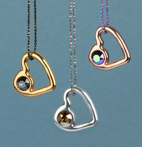Crystal Heart Necklace Collection
