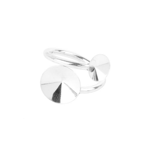 Sterling Silver 925 Ring Base 20mm Rivoli 8mm/12mm Pk1