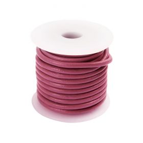 Pink Round Leather 2mm Cord 5 Metre Reel