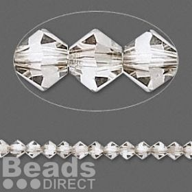 5328 Swarovski Crystal Bicones Xillion 4mm Silver Shade Pk24