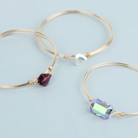 Gold Crystal Bangle Kit made with Swarovski TAMB makes x4