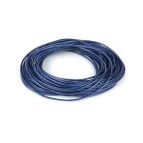 Shiny Coated Braiding Cord 1mm Navy Blue 10m