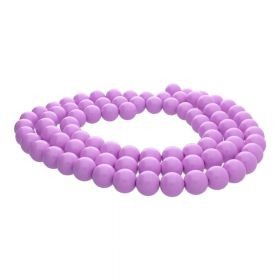 Milly™ / round / 10mm / lilac / 80pcs