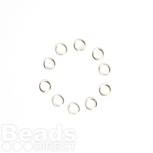 X-Sterling Silver 925 Jumprings 0.84x5mm Pk10