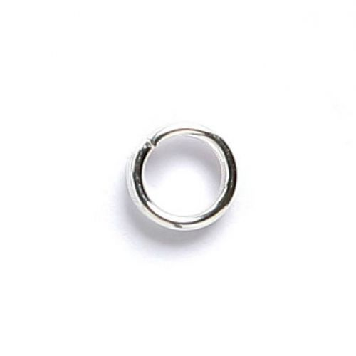 Silver Plated Split Rings 4mm Pk100