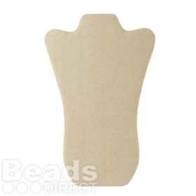 Beige Linen Large Flat Foldable Jewellery Stand 15x36cm Pk1