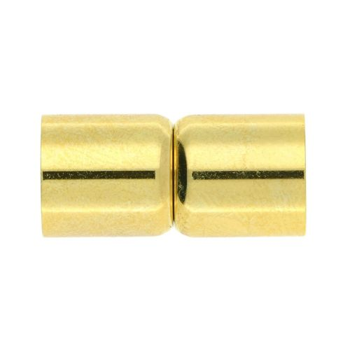 Magnetic clasp / surgical steel / dumbbells / 19x7x7mm / gold / hole 6mm / 1pcs