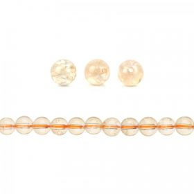 Citrine Semi Precious Round Beads 8mm Pk10