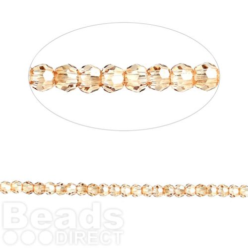 5000 Swarovski Crystal Faceted Rounds 2mm Crystal Golden Shadow Pk24