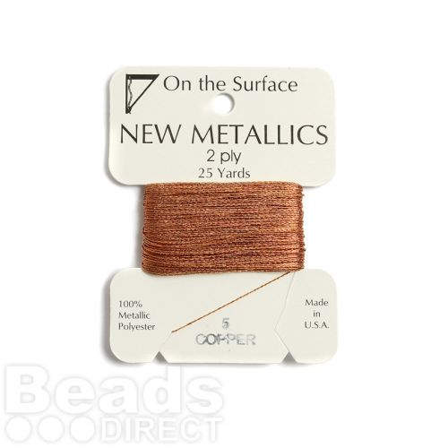 X-Metallic Thread for Kumihimo Braiding 25yds Copper