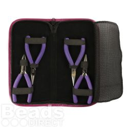 'Professional' x4 Jewellery Pliers Set with Case