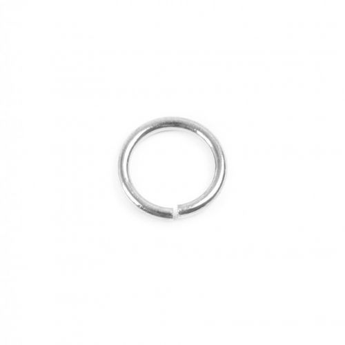 Silver Plated Jump Rings 8mm 1mm Thick Pk50