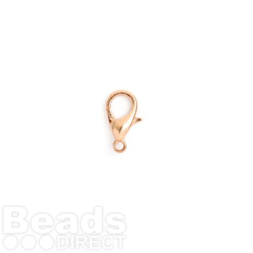 Rose Gold Plated Copper Lobster Clasp 6x12mm Pk5