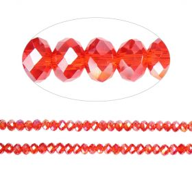 Essential Crystal Faceted 4mm Rondelle Siam 150pk