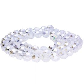 CrystaLove™ / glass crystals / round / 4mm / crystal AB / 100pcs