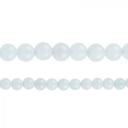"Natural Aquamarine Semi Precious Rounds 6mm 15"" Strand"