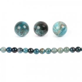 Blue Apatite Semi Precious Round Beads 12mm Pk10