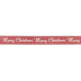 White/Red Merry Christmas Craft Ribbon 15mm 5metres