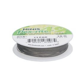 BEADSMITH® / Flex-Rite® 49 wire / surgical steel / .018inch / Crystal / 3m