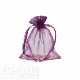 "Purple Organza Bag 3""x4"" Pack 5"