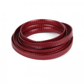 Dark Red Flat 4mm Woven Cord 1 Metre Length