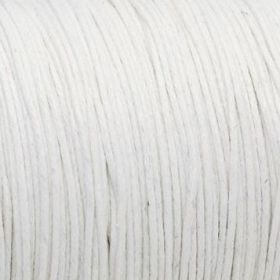Waxed cord / white / 1.0mm / 1m