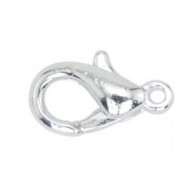 Clasp silver-plated lobster claw 15mm Pk10