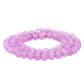 Agate / faceted round / 4mm / pink / 84pcs