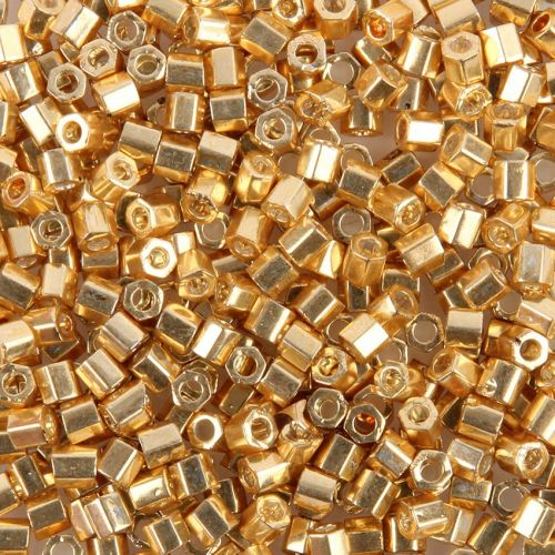 Toho Size 8 Hex Seed Beads Galvanized Starlight 10g
