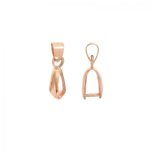 Rose Gold Plated Pendant Bail with Loop 4x9mm Pk2