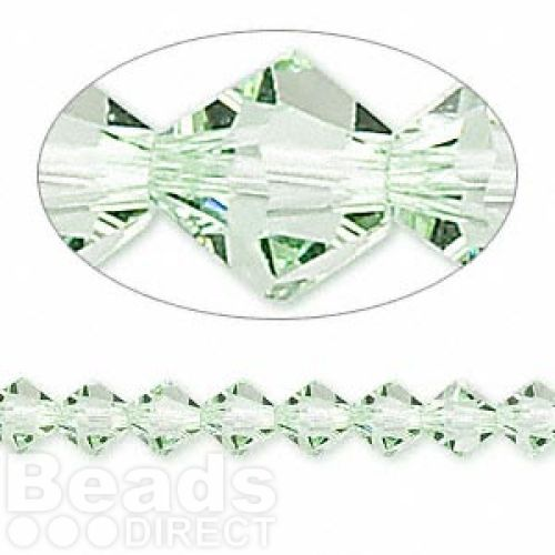 5328 Swarovski Crystal Bicones Xillion 6mm Chrysolite Pk24