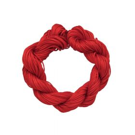 Mcord ™ / Macramé cord / nylon / 1.5mm / red / 13m